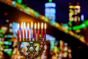 Jewish holiday hannukah menorah