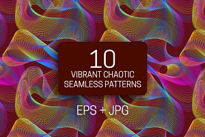 10 vibrant chaotic seamless textures