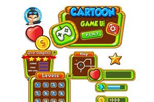 Cartoon Game Ui Set 11
