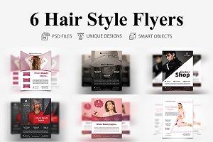 6 Hair Style Flyers
