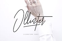 Ollister Signature Font by  in Script Fonts
