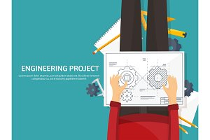 Vector illustration. Engineering and