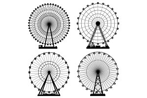 Vector illustrations set. Ferris