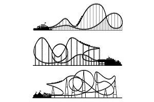 Vector illustration. Ferris wheel
