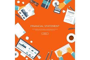 Vector illustration. Financial