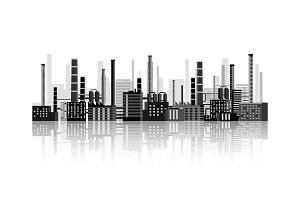 Vector illustration. Industry. Power