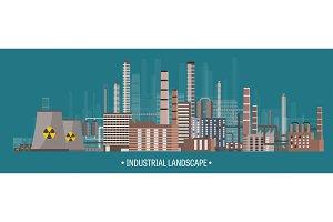 Vector illustration. Urbanization
