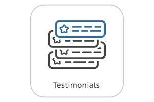 Testimonials Line Icon.