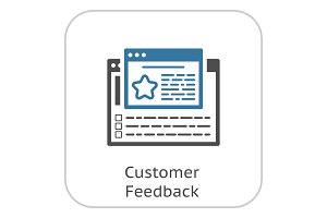 Customer Feedback Line Icon.