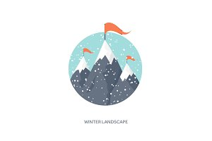 Vector illustration. Winter