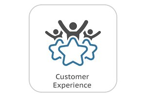 Customer Experience Line Icon.