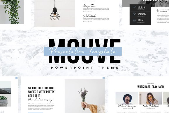mouve elegant powerpoint template presentation templates