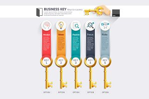 Business Key Concept Infographics
