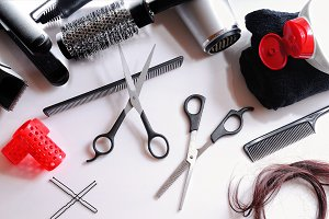 Composition hairdressing tools top