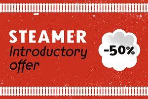 Steamer Font Family -50 %