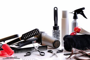 Composition hairdressing tools front