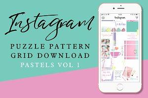 Instagram Puzzle Grid - Pastels