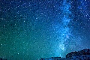 Milky way in Himalayas