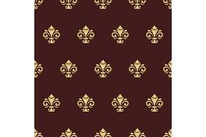 Seamless vector golden pattern