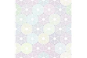 Geometric repeating vector ornament