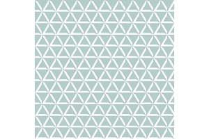 Geometric vector pattern with blue