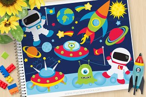 Space Adventures, Astronaut Clipart