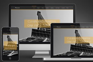 Mocca Onepage Clean Template