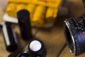 Lens, film, fleshmetr,Exposure meter