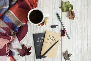 Fall Field Notes Styled Flat Lay