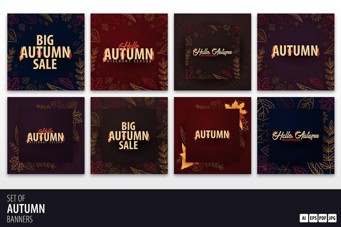 Autumn Social Media banners