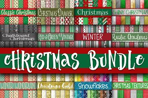Christmas Digital Paper Bundle