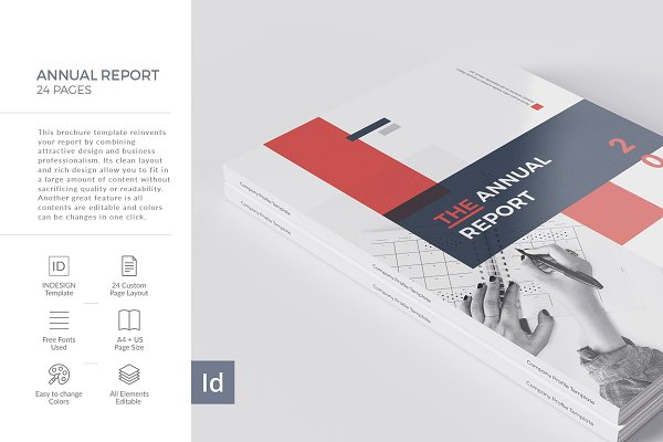 Brochure Templates: BrochuresFactory - Annual Report 24 Pages