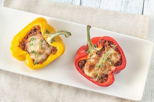 Stuffed peppers with meat
