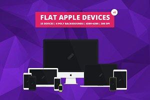 Flat Responsive Apple Web Mockups v2