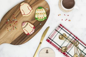 Cookie & Hot Cocoa Holiday Flat Lay