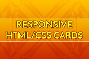 Responsive Linear Cards HTML/CSS