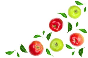 red and green apples decorated with