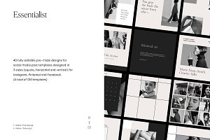 Essentialist Social Media Pack