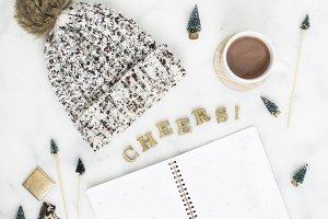 Beanie & Planner Holiday Flat Lay