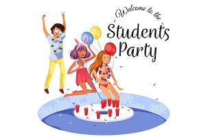 Welcome to the Students Party poster