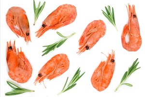 Red cooked prawn or shrimp with