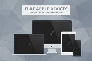 Flat Responsive Apple Web Mockups