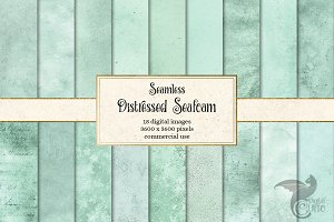 Distressed Seafoam Green Textures