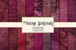 Vintage Burgundy Textures