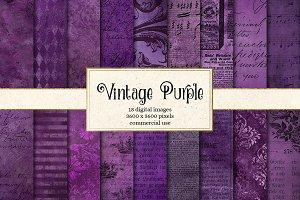 Vintage Purple Textures