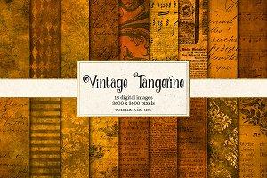 Vintage Tangerine Textures
