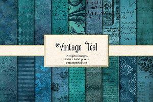Vintage Teal Textures