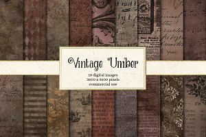 Vintage Umber Textures