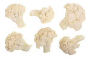Piece of cauliflower isolated on