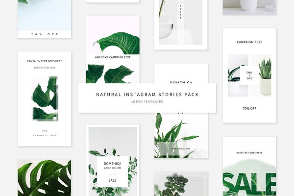 Social Media Templates: Swiss_cube - Natural Instagram Stories Pack